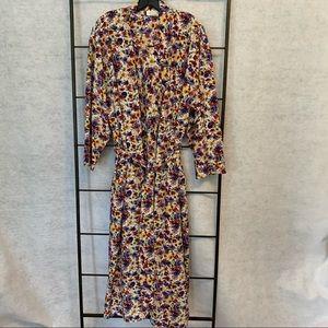 Nordstrom Lingerie Floral Robe/Gown Set. Size 16